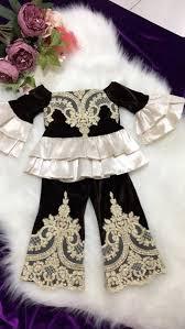 Brown Velvet Shirt and Pants for <b>Baby Girls</b> | Girls <b>fashion</b> clothes ...