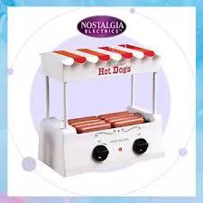 Nostalgia HDR-565 Retro White <b>Hotdog</b> Roller Warmer <b>Appliance</b> ...