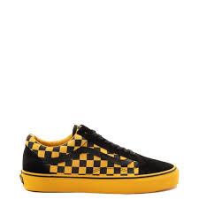 Vans Old Skool Checkerboard Skate Shoe - <b>Black</b> / Spectra <b>Yellow</b> ...