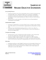 example of resume objectives template example of resume objectives
