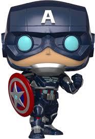 <b>Фигурка Funko POP</b>! Bobble: Marvel: Avengers Game: <b>Captain</b> ...