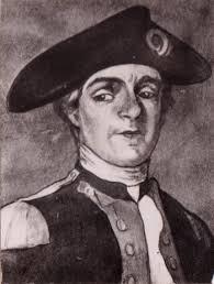 JOHN PAUL JONES Reproduction of a portrait found in a Gatehouse hotel. - portrait