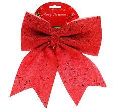 Новогодний <b>декор Бант 24см</b>, цвет - красный, упаковка 12 шт ...