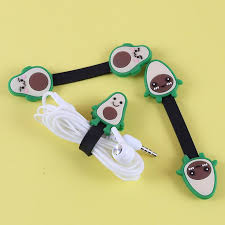 1 <b>Pc</b> cute <b>Cartoon</b> Fruit avocado <b>Headphone Earphone</b> Wrap ...