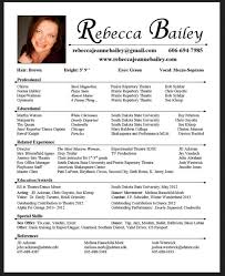 free acting resume template resume templates for actors simple actors resume template word