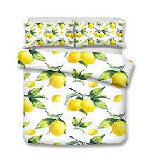 Anmou Bedding <b>Sets</b> Duvet Cover <b>Set 3D</b> Fruit Orange Lemon ...