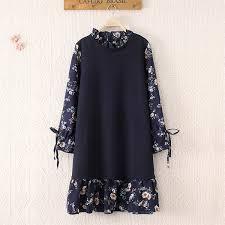 plus size <b>Women long</b> Sleeved Spring <b>Autumn dress</b> mini <b>dresses</b> ...
