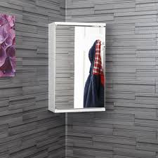 croydex bathroom cabinet: croydex simplicity mirrored corner bathroom cabinet