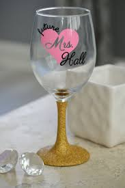 room modern camille glass: future mrs gift bride wine glass bride to be wine glassfuture mrs
