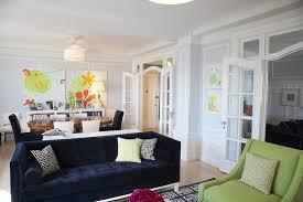 blue sofas living room: