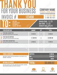 fun and modern customizable invoice template design royalty fun and modern customizable invoice template design stock vector 36499857