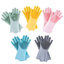 Buy decdeal-Kitchen <b>Silicone Cleaning</b> Gloves Magic <b>Silicone</b> Dish ...