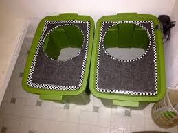 diy top loading cat litter boxes i bought two 18 gallon plastic storage containers bookcase climber litter box