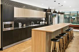 Office Kitchen Design This Stunning Modern Kitchen Design Is In Polytec Natural Oak And