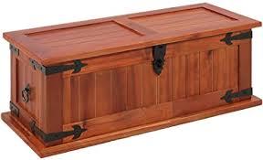 <b>Storage Chest 60x25x22 cm</b> Solid Acacia Wood Furniture: Amazon ...