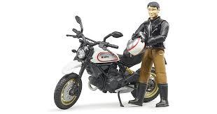 Игрушка <b>Bruder мотоцикл Ducati Scrambler</b> Desert Sled с ...