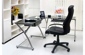image of black glass corner desk awesome glass corner office desk glass