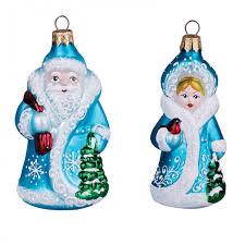 <b>Элита</b> Набор <b>елочных</b> украшений Дед Мороз и Снегурочка 11 см ...