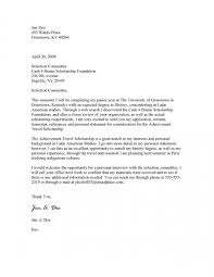 personal letter of recommendation sample cover letter cover letter for award application