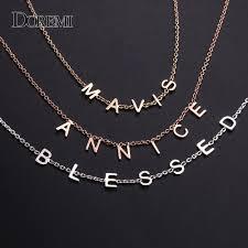 DOREMI <b>2019 Personalized Custom Name</b> Choker Necklace Dainty ...