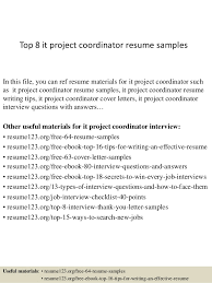 top  it project coordinator resume samplestop  it project coordinator resume samples in this file  you can ref resume materials