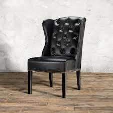 faux leather dining chair black: amazing decor ivory tufted dining chair with script back and wood legs with tufted dining chair