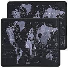 RiaTech 2 Pack (255mm x 210mm x 2mm) <b>World Map</b> Print Gaming ...