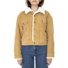 <b>LEVIS</b> Womens New Heritage Cord <b>Iced</b> Coffee Trucker <b>Jacket</b>