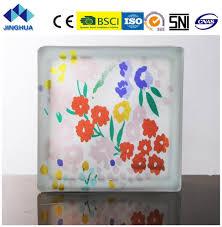 China Jinghua <b>High Quality</b> Artistic P-<b>050</b> Painting Glass Block/Brick ...