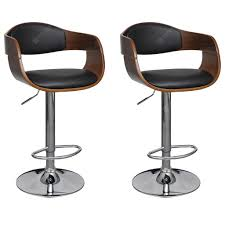 <b>Bar Chair Cream Bent</b> Wood and Faux Leather Sale, Price ...