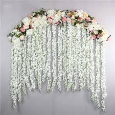 <b>10Pcs Set</b> 120cm Wedding Party Decoration Long Wisteria Vine ...