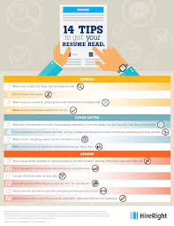 tips to help get your resume read hire right infographic