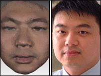 Dr Chung How Kau. Dr Kau scanned in his own face using the laser system - _40374789_faces203