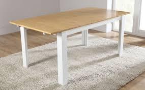 white oak extending dining table