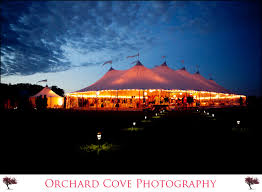it was a magical evening bbq wedding tent