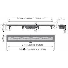 <b>AlcaPlast Simple APZ9</b>-550M водоотводящий <b>желоб</b> купить в ...
