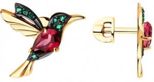 Золотые серьги-<b>пусеты</b> (гвоздики) по выгодной цене в каталоге ...