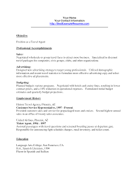 Travel Agent Resume Sample   Job and Resume Template   airline customer service agent resume