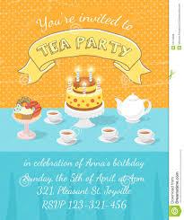 tea party invitation template stock vector image 51578938 tea party invitation template