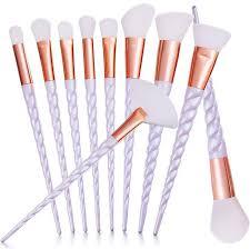 10pcs spiral makeup brush set foundation blending powder eye shadow make up brushes pink cosmetic beauty tools
