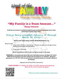 flyers week of the family my family is a team because essay contest flyer pdf jpg