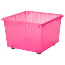 Купить ВЕССЛА <b>Ящик</b> на <b>колесах</b>, светло-розовый, 39x39 см по ...