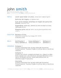 Resume In Microsoft Office Word      Resume In Word      Template Creating A Resume Using Microsoft