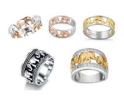 Fashion <b>Jewellery 925</b> Silver Animal Elephant Herd Band Ring ...