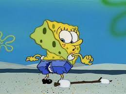 Spongebob has ripped his pants