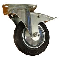 <b>Колесо</b> d160 на <b>площадке поворотное</b> с тормозом черное Ликчел