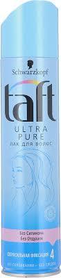 """<b>Taft Лак для волос</b> """"Ultra Pure"""", сверхсильная фиксация, 225 мл ..."""
