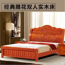 chinese bedroom furniture carved oak double bed wood bed adult 18 meters wholesale chinese bedroom furniture