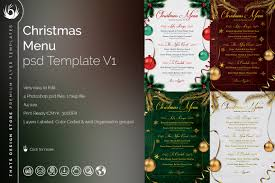 christmas menu template v tds psd flyer templates christmas eve menu template