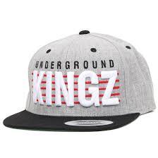 Underground Kingz Grey/Black Snapback - <b>Mister Tee</b> - <b>Бейсболки</b>